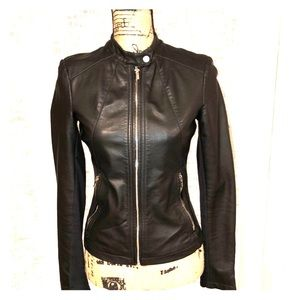 Express faux leather jacket.